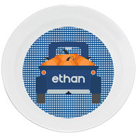 Blue Gingham Truck Bowl