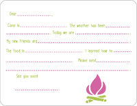 Purple Camp Fires Camp Fill-in Card