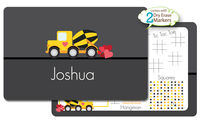 Construction Truck Valentine Dry Erase Placemat