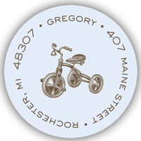 Freshly-Etched Tricycle Label LST1001-10120