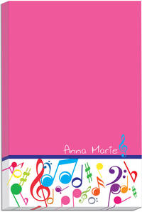Bright Notes Fuchsia Icon Pad
