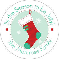 Holiday Stocking Gift Stickers