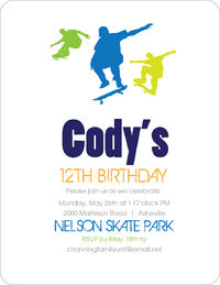 Skateboarder Birthday Invitation