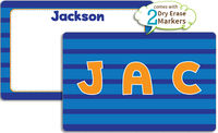 Blue Stripes Dry Erase Placemat