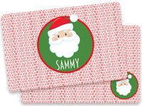 Dotted Santa Placemat
