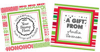Holiday Gift Tags for Custom Stamps