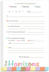 Pastel Border Excuse Pad