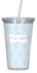 Drawn Harlequin Clear Acrylic Tumbler