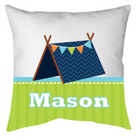 Blue Tent Autograph Camp Pillow