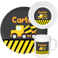 Construction Truck Melamine Set