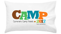 Camp Friends Boy Pillowcase
