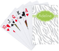 Verde Zebra Playing Cards