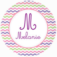 Girly Chevron Plate