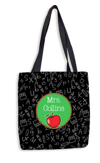 Apple Chalkboard II Tote Bag