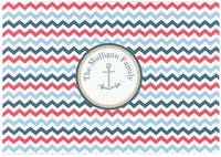 Anchored in Chevron Glass Cutting Board