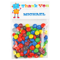 Robot Birthday Party Candy Bag Favors