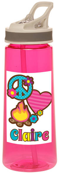Peace Love Camp Water Bottle
