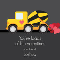 Construction Truck Valentine's Stickers