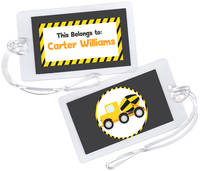 Construction Truck Luggage Tag