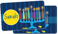 Glowing Menorah Placemat