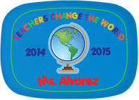 Teachers Change the World Melamine Platter
