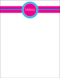 Fuchsia Blue Large Notepad