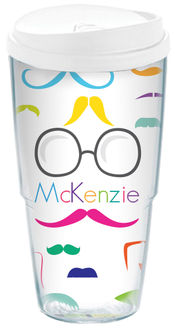 Bright Moustache Acrylic Travel Cup