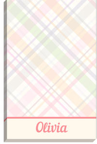 Pastel Plaid Notepad