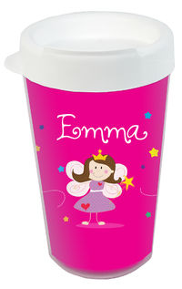 Fairy Princess Clear Acrylic Tumbler