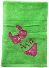 Bikini Embroidered and Applique Beach Towel