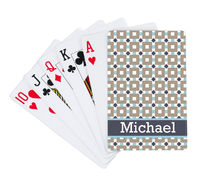 Khaki Squares Playing Cards