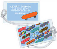 Cool Skateboards Luggage Tag
