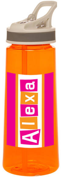 Letter Shapes Fuchsia Water Bottle