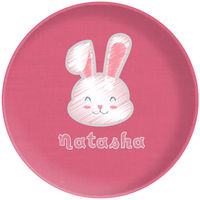 Bunny Chalk Pink Plate