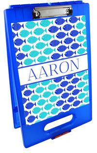 Blue Fishies Clipboard Storage Case