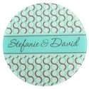 Infinite Circles Seafoam Round Glass Cutting Board