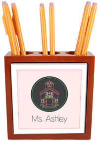 Scribble School House Pencil and Pen Holder