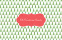 Christmas Tree Love Paper Placemats