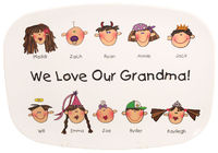 Custom Family Faces Melamine Platter