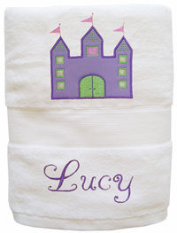 Castle Embroidered and Applique Towel