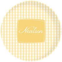 Golden Gingham Plate