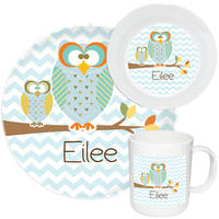 Autumn Owls Melamine Set