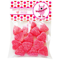 Cuddle Monster Valentine Candy Bag Toppers