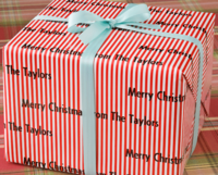 Red Stripe Gift Wrap RS24