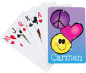 Peace Heart Smiley Playing Cards