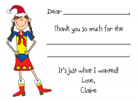 Holiday Custom Thank You Fill-in Note Card  H-FCC-FI