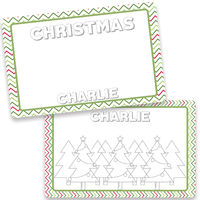 Christmas Dry Erase Placemat
