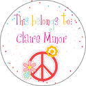 Polka Dot Peace Camp Stickers