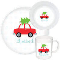 Christmas Tree Tow Melamine Set