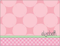 Blush Circles Note Card